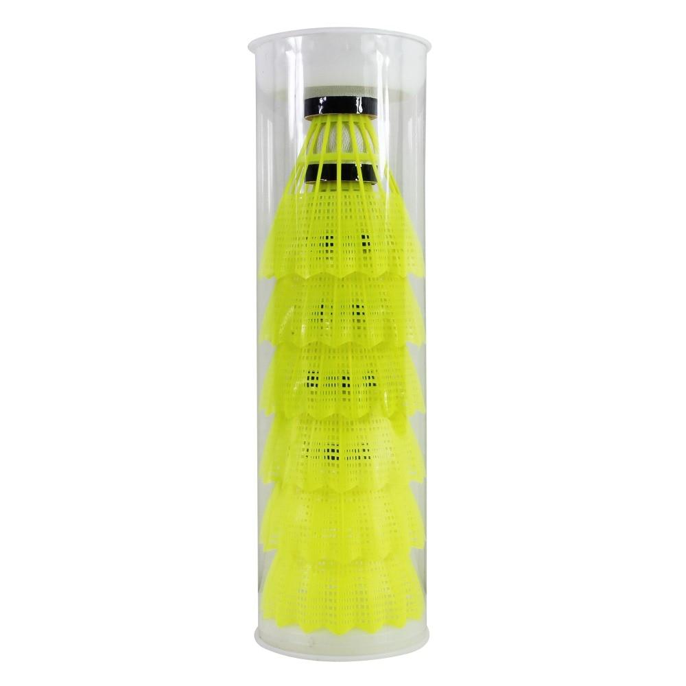 1 caurule FANGCAN FCNS-01 dabīgā putu korķa nailona badmintona aizbāznis ar zemu ātrumu izturīgu un labu lodīšu kontroli 6gab / caurule