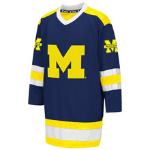d74ee0793 BONJEAN Michigan Wolverines University Hockey Jersey Embroidery Stitched  Customize
