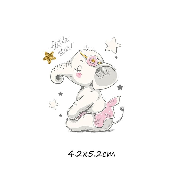Милый мультфильм животных Комбинации гладить на патч ручной работы термоприклеивание, наклейки для Костюмы значки аппликаций для украшения из ткани - Цвет: J-61-2