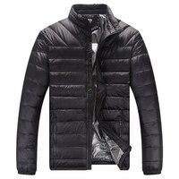 White Duck Down Jacket Waterproof Parkas Man Winter Warm Male Coat Men Ultralight Feather Jacket Overcoat Outerwear Collar L 4XL