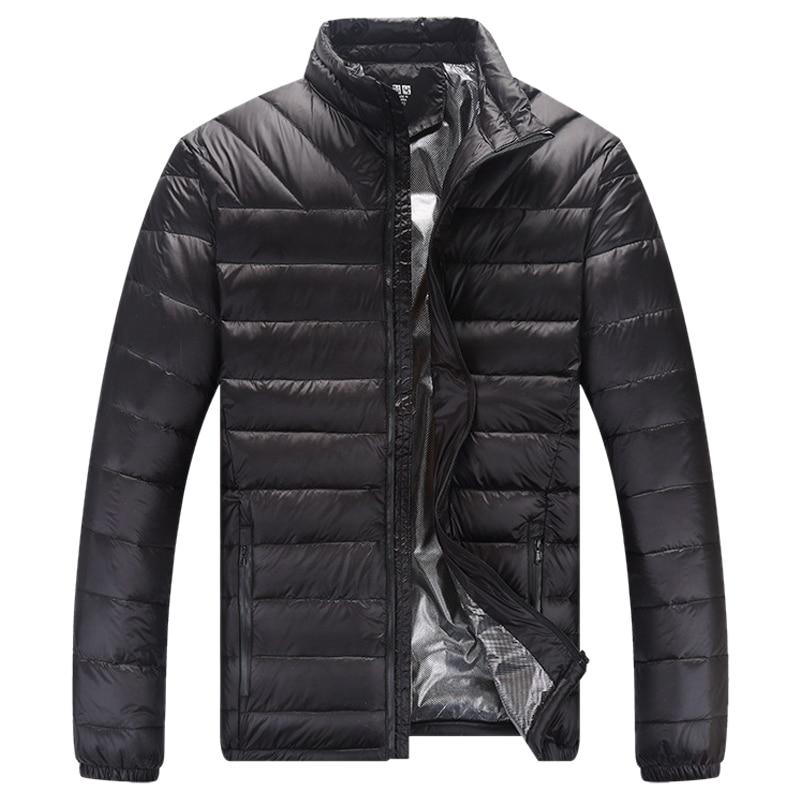 White Duck   Down   Jacket Waterproof Parkas Man Winter Warm Male   Coat   Men Ultralight Feather Jacket Overcoat Outerwear Collar L-4XL