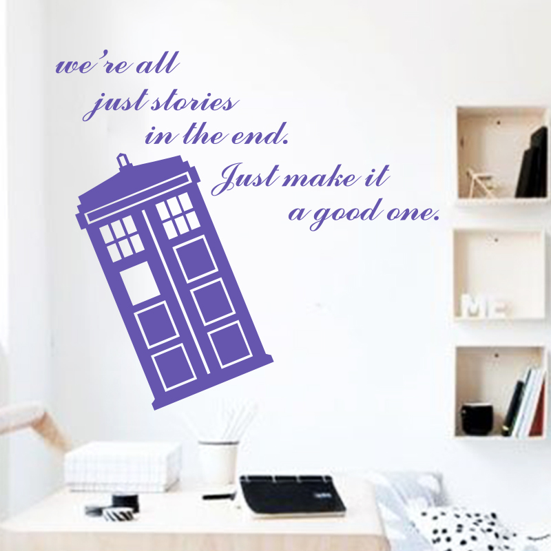 ... Para Casa Dr Who Barato Vinil Popular Doctor Who Caixa De Polícia  Decalque Adesivo De Parede Decoração Home Famosos De Confiança Designer Wall  Stickers ... Part 49