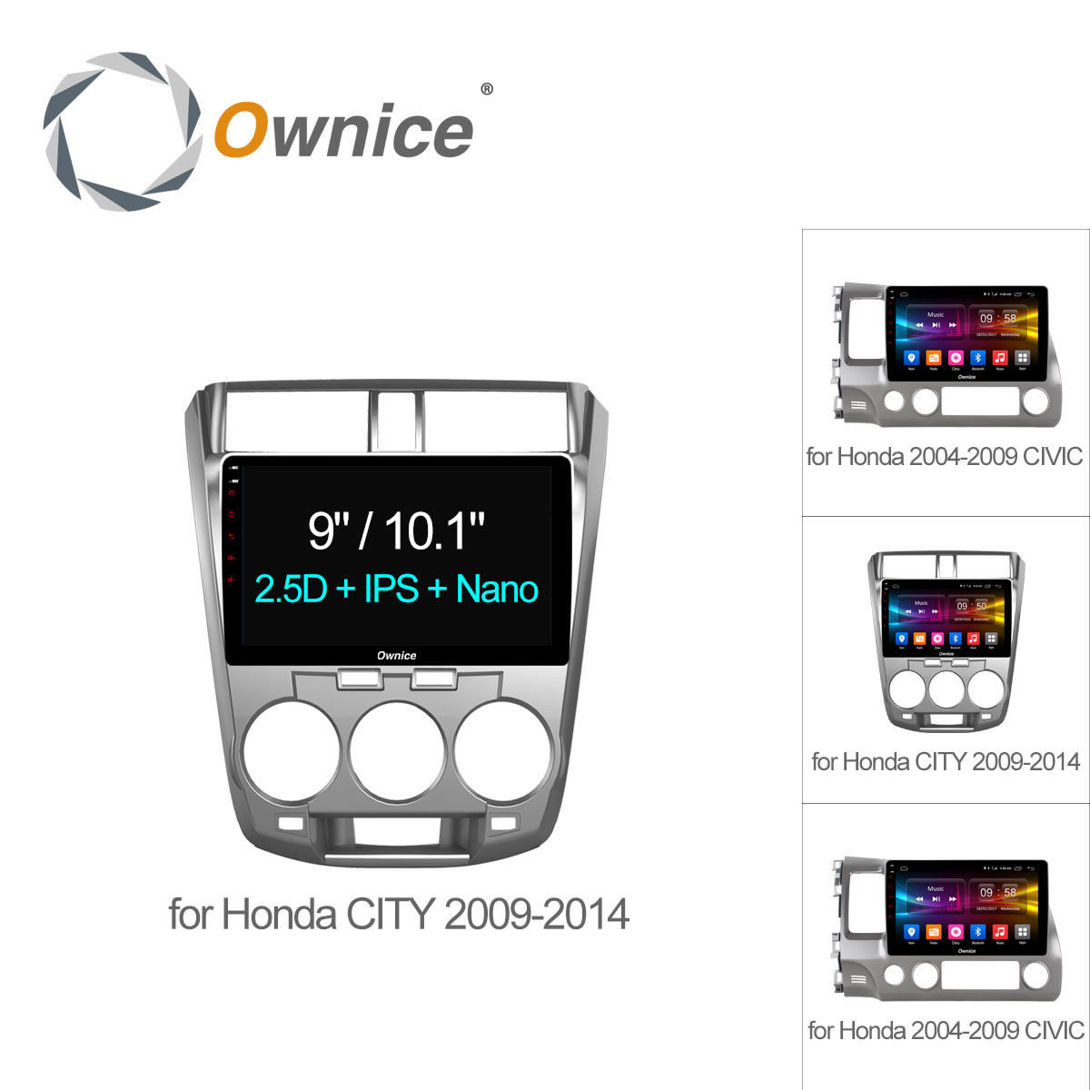 Ownice C500 10.1 inch Android 6.0 Car DVD Player For Honda