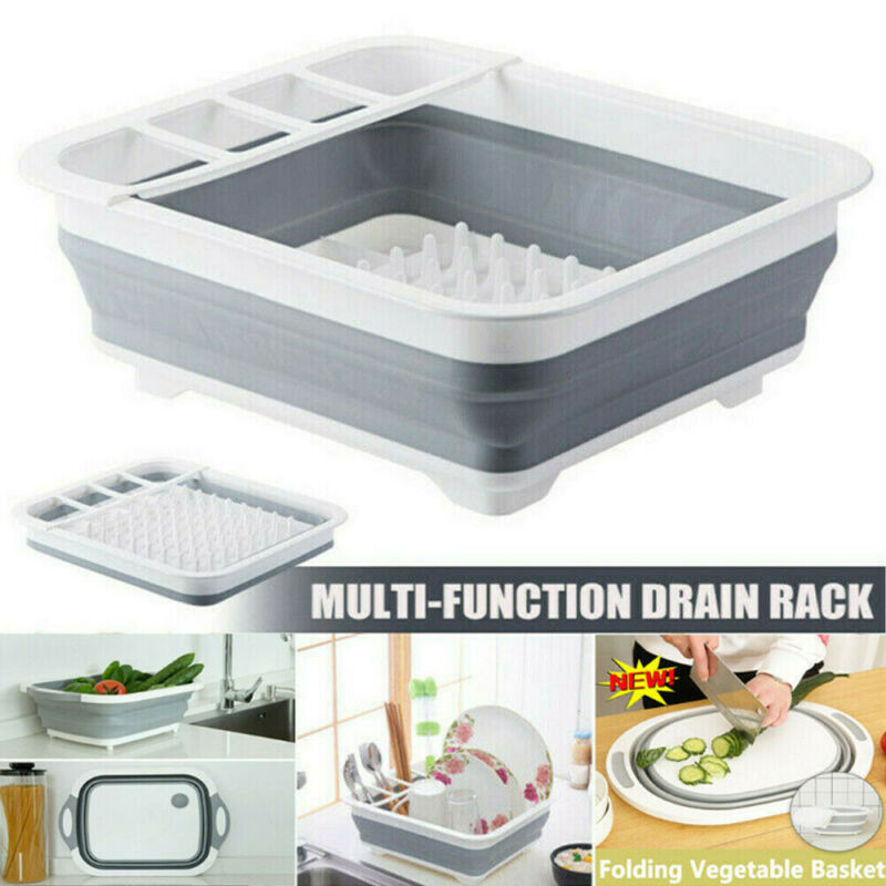 New Chopping Board Folding Drain Basket Multi-Function 2 In 1 Sink Cutting Board(China)