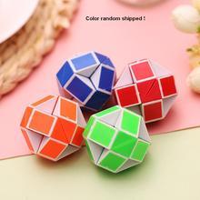 Stress reliever anti stress magic cube snake puzzle mini pyraminx twist ruler gift Children game hand