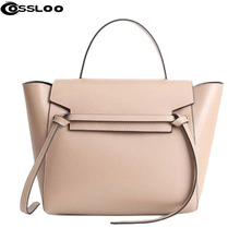 COSSLOO 2017 Brand New Genuine Leather  Messenger Bags Ladies Fashion Bolsas Casual Women Handbag Solid genuine leather bags