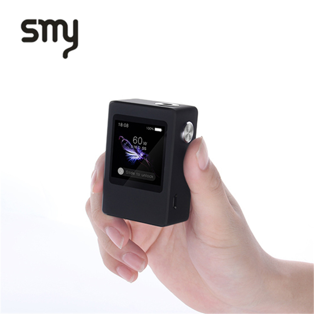 SMY 1.54 Inch Touch Screen 60W Temperature Control TC VT Mini Box Mod Electronic Cigarette Hookah Pen Mod Box original electronic cigarette mod vape pen smoant charon 218w tc box mod mechanical mod leather cover free shipping