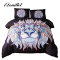 iDouillet Black Colored Lion Animal Bedding Kids Boys Duvet Cover & Pillowcases Twin Queen King Double Size Bedclothes