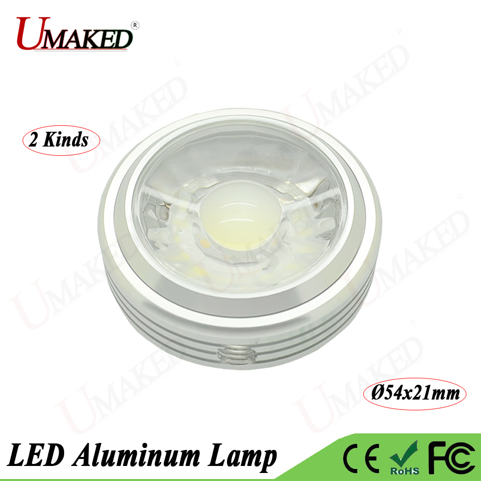 2pc 3w 5w 7w Led Cob Alumimun Lamp Head Kit Light