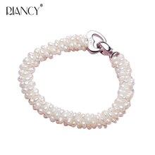 New Fashion Natural freshwater white pearl bracelets Handmade Small woven bracelet for women wedding gift