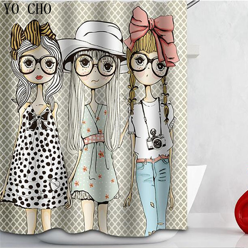 High Quality 3D Beautiful Girl Shower Curtain Polyester Fabric Michael Jackson Pattern bath curtain for Bathroom accessories