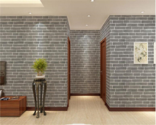beibehang Modern Chinese style brick 3d non-woven fabric papel de parede wallpaper Cultural stone wall paper pared