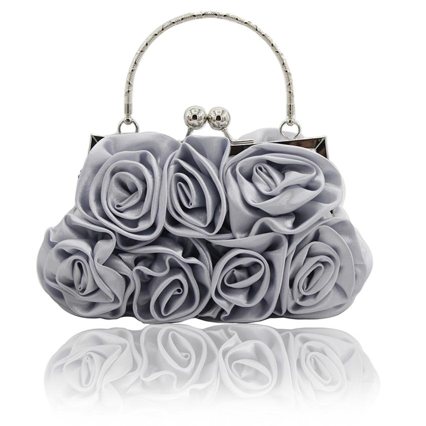 2017 쇄도 새 도착 프레임 Kingluck 꽃 디자인 새틴 및 여성 웨딩 시합 클러치 백 / 저녁 핸드백 (더 많은 색상)