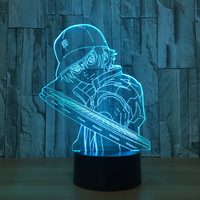 Tennis Prince 3d Night Light LED 7 Color Changing Tennis Hat LED Boy Table Lamp Instruments