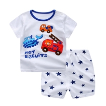 WYNNE GADIS Summer Baby Boys Car Short Sleeve T-shirt Tops + Star Print Shorts Two Pieces Suits Casual Kids Clothing Sets