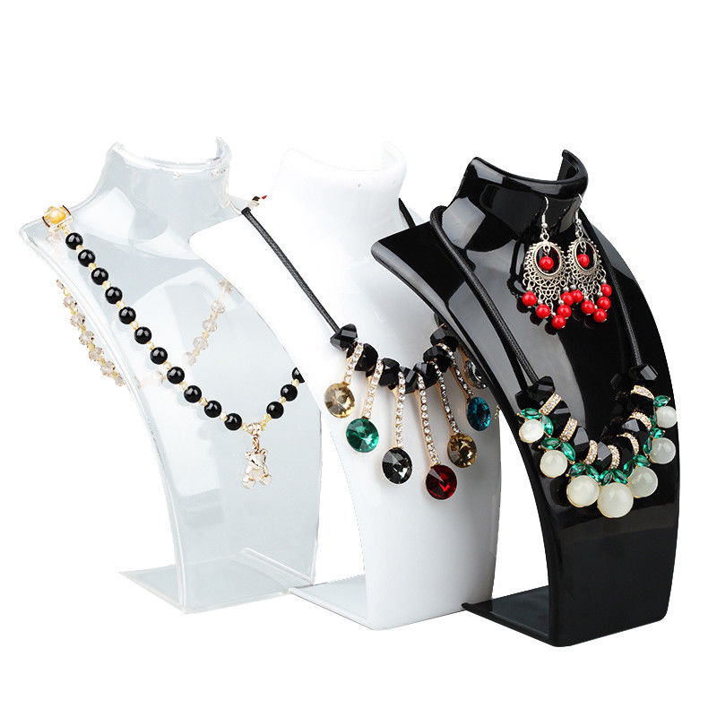 Three Colors 20*13.5*6cm Mannequin Earring Necklace Jewelry Pendant Display Stand Holder Show Decorate Retail