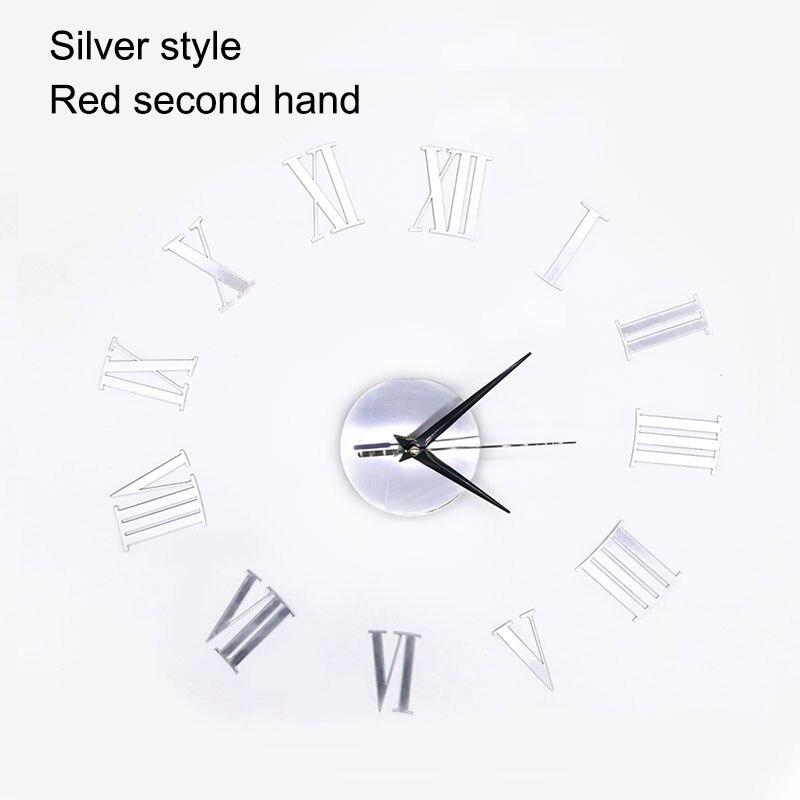 3D Dekorasi Rumah DIY jam dinding quartz Acrylic cermin jam angka Romawi  Busana Art stiker dinding Menonton desain modern di Wall Clocks dari Rumah    Taman ... 7f6c5659e4