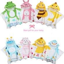 Горячая Распродажа, хлопок, детское пляжное платье, детский банный халат, пляжное полотенце, накидка, детское банное полотенце с капюшоном с мультяшными животными