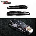 Genuíno caso chave de corte de fibra de carbono para Porsche cayenne boxter 911 Panamera macan remoto carro