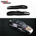 genuine carbon fiber trimming key case for Porsche cayenne macan boxter 911 Panamera car remote