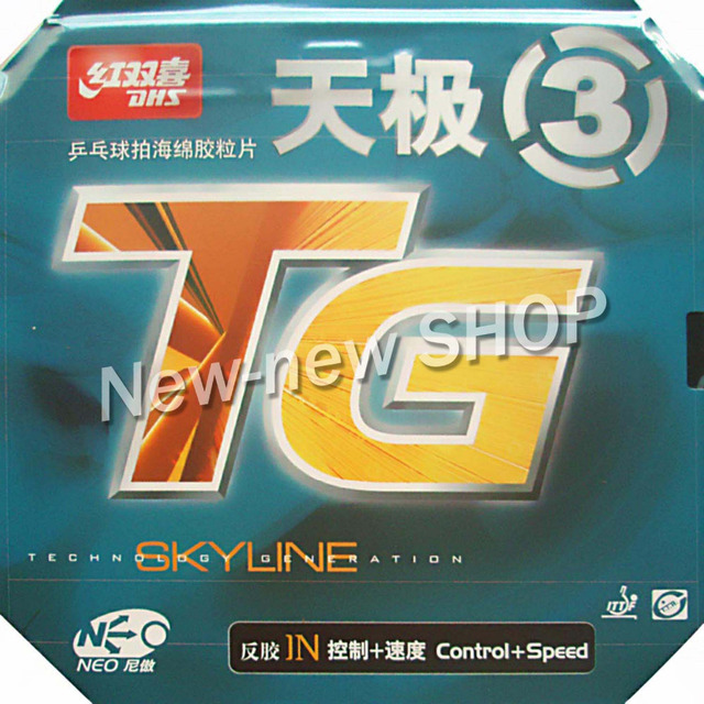DHS NEO Skyline TG3 NEO TG3 NEO TG 3 NEO TG 3 Pips In Goma de ping pong para tenis de mesa con esponja naranja