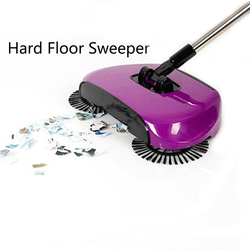 Aço inoxidável máquina arrebatadora push tipo vassoura mágica dustpan lidar com aspirador de pó doméstico mão push sweeper piso robótico