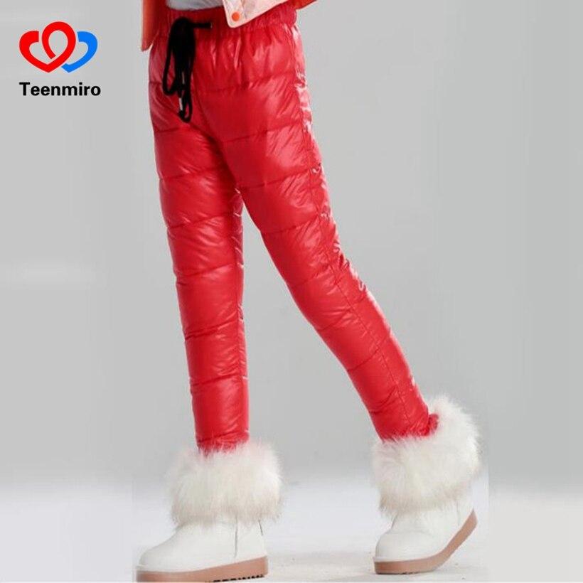 Children Winter Pants Baby Girls Leggings Duck Down waterproof trousers Pantalon Enfant Baby Girl Stuff clothes