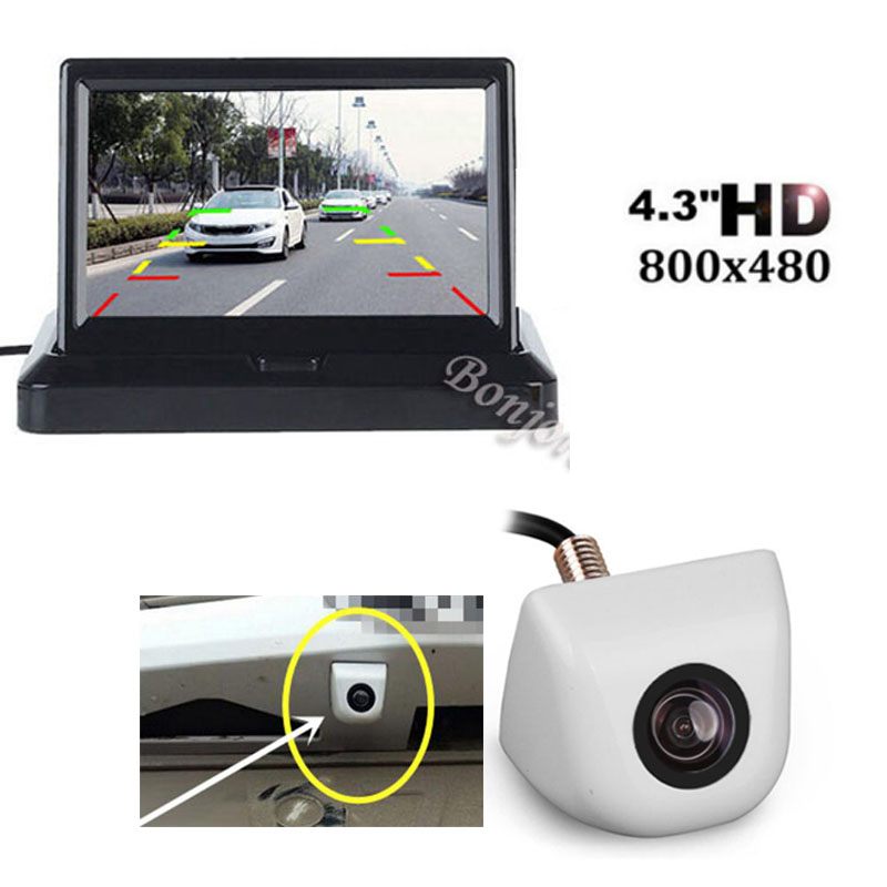 Car Parking camera backup Auto rearview cam with 4.3 inch 800 x 480 Screen Folding TFT LCD Monitor Screen System
