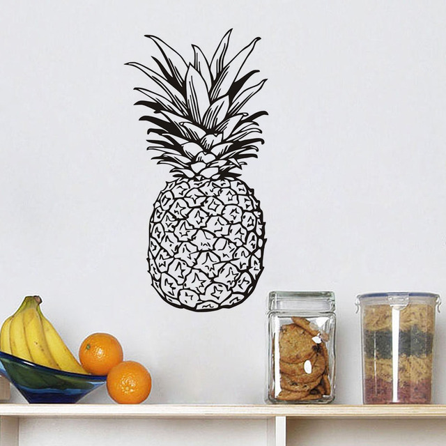 Frutta Cibo Sticker Cucina Adesivo Ananas Fai Da Te Adesivi Murali ...