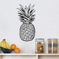 Thực Phẩm trái cây Sticker Bếp Tường Decal Dứa Diy Tường Stickers Đối Với Nhà Bếp Chống Thấm Bức Bích Họa Áp Phích Trí Nội Thất Trang Trí