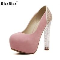 נשים נעלי חתונה פלטפורמת גברות עקבים גבוהים 2016 גביש מותג אופנה משאבות נעלי Zapatos נשי עם עקבים גבוהים גודל 35-39 K00624