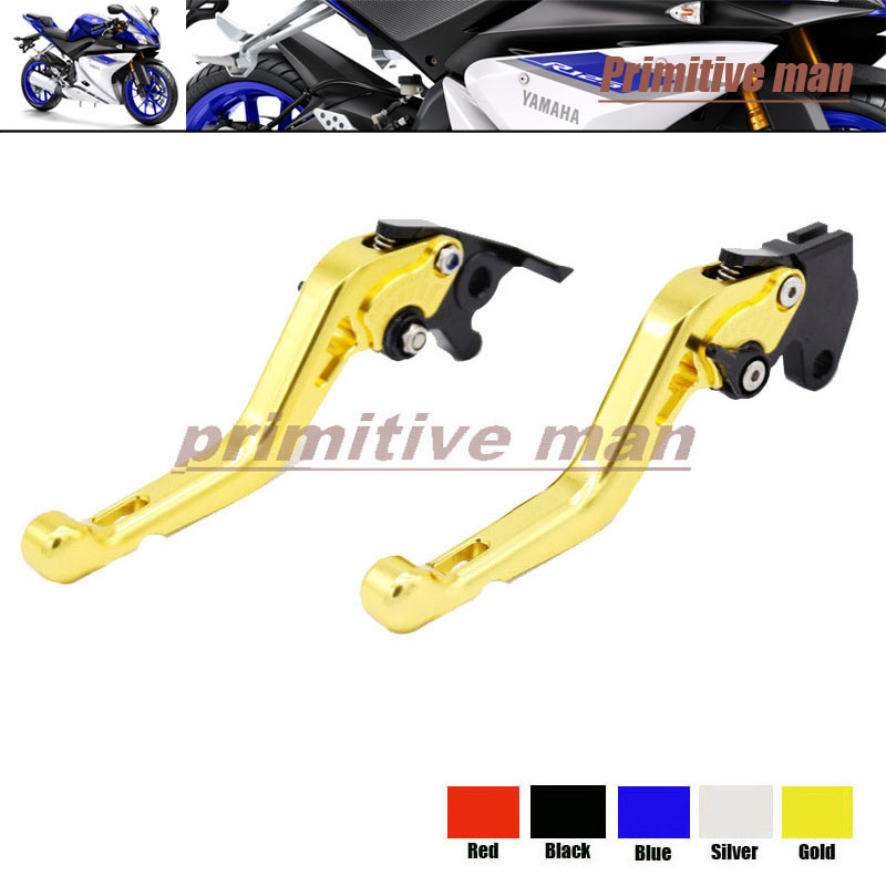 For YAMAHA YZF R125 2014-2015 Motorcycle Accessories Short Brake Clutch Levers Gold настенное бра riforma chic 3879 3 3879 2 fg led e14