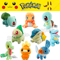 Bulbasaur Charmander Squirtle Pokemon Chikorita Cyndaquil Totodile Treecko Torchic Mudkip Мягкая Плюшевые Игрушки Куклы Детские Игрушки