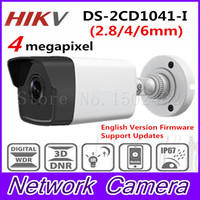 2017 HiK New Released 4 0 MP CMOS Network Bullet Camera DS 2CD1041 I 30m IR