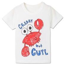 Summer boy cartoon animal short-sleeve T-shirt 2018 new half-sleeved shirt round collar T-shirt цена