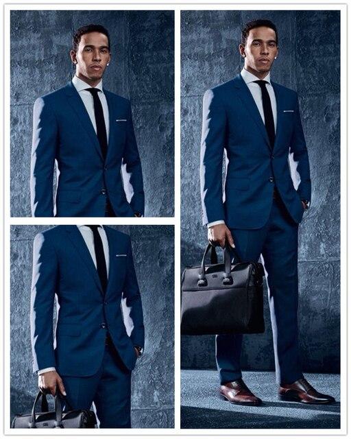 Style italien Sur Mesure Bleu Marine Marié Smokings Coupe Slim Coupe De  Mariage Pour Hommes Costumes 5c898001e0c