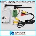 PARTOM 900Mhz 1.2Ghz 1.3Ghz 400mW 8CH Wireless Audio&Video AV transmitter and 12ch Receiver FPV Combo