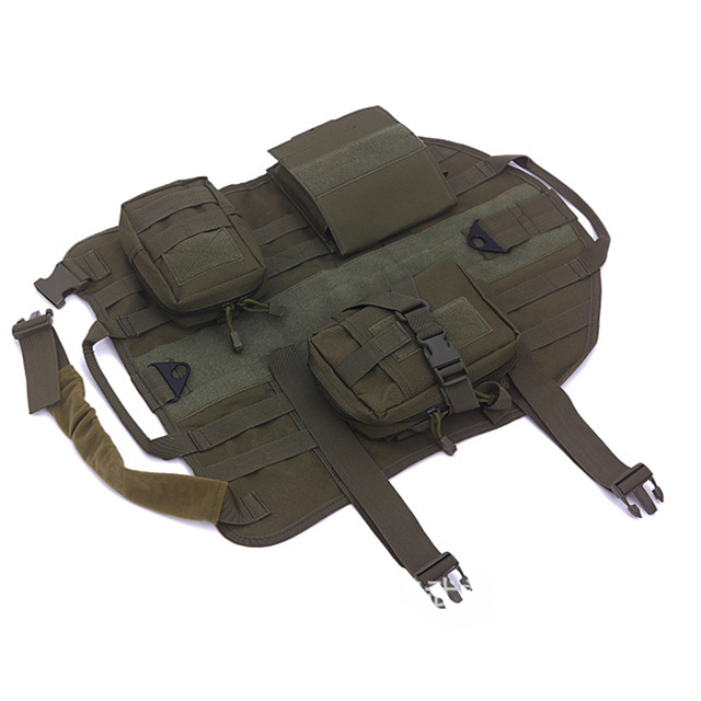 Hot Sales Tactical Dog Training Molle Vest Harness Military Load Bearing  Harness SWAT Dog Jacket With MOLLE EMT First Aid Pouch 1a29415806f