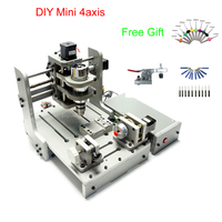Mach 3 control DIY Mini CNC Router 300W spindle PCB milling machine, no tax to Russia