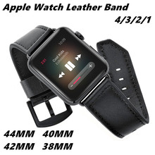 High quality Leather Watch Band 44/42/40/38mm For Apple 4/3/2/1 Genuine Strap Bracelet Replacement Wristband Iwatch