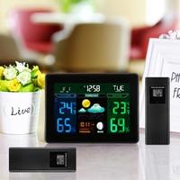 Indoor Outdoor Temperature Monitor Digital Weather Station TS 71 RCC Thermometer RH% Barometric Pressure 2 Wireless Sensor