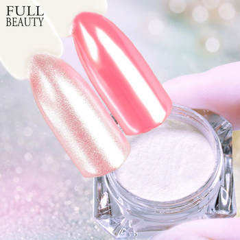 1g Mermaid Glimmer Nail Glitter Pigment Laser Gradient Mirror Effect 3D Nail Powder