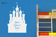 YOYOYU Vinyl Wall Decal Once Upon A Time Fairytale Castle Princess Dream Kids Room Decoration Stickers FD178