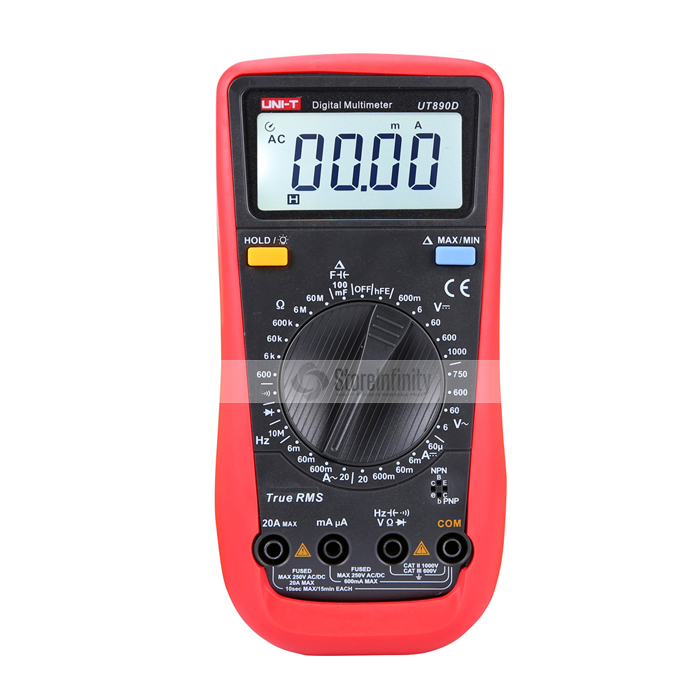 где купить UNI-T UT890D Digital Handheld Multimeter True RMS REL AC/DC Frequency Tester дешево