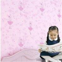 Beibehang Fantasy Ballet Fille Imprimer Kid Room Decor Wallpaper Mignon Danseur Conception Non-tissé Papier Peint Mural Fonds D'écran pour Ki