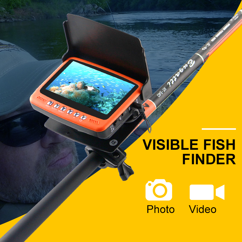 Visible Video Fish Finder Underwater Ice Video Fishfinder Fishing Camera IR Night Vision 4.3 inch Monitor camera kit HD 1000TVL 30m underwater fish cameras finder sea real time live underwater ice video fishfinder fishing camera ir night vision 4 3 screen