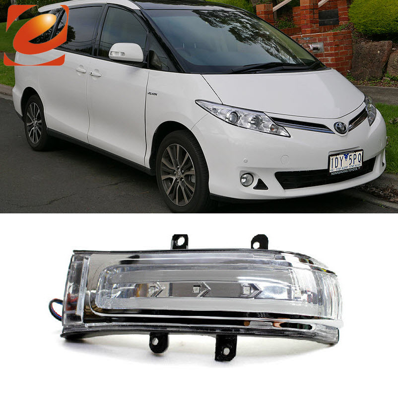 eeMrke For Toyota Estima 2006-up Side Rear View Mirror Lights LED DRL Turn Signals eemrke for toyota voxy 2007 2008 2009 2010 2011 2012 2013 side rear view mirror lights led drl turn signals