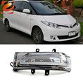 eeMrke For Toyota Estima 2006-up Side Rear View Mirror Lights LED DRL Turn Signals