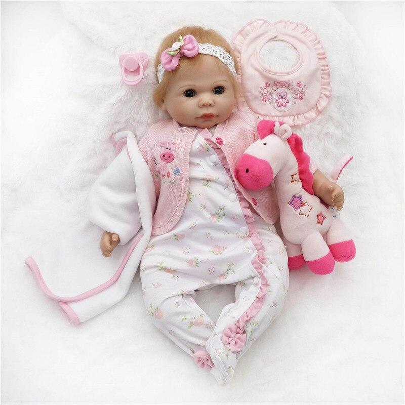 SanyDoll 20 inch 50 cm Silicone baby reborn dolls,  doll reborn Lovely beautiful dress doll birthday gift : 91lifestyle