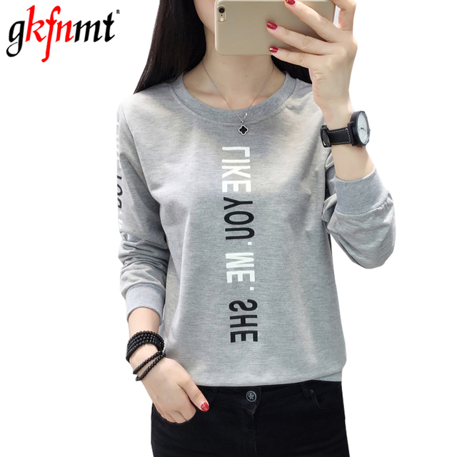 58281bb5c Letter Print T Shirt Harajuku T-Shirt Women 2018 Autumn Winter Casual Long  Sleeve T